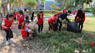 """70余名志愿者参与龙港""""你丢我捡""""公益活动"""
